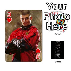 Harry Potter Playing Cards By Mark C Petzold Front - Heart3