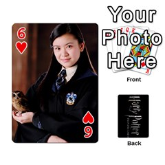 Harry Potter Playing Cards By Mark C Petzold Front - Heart6