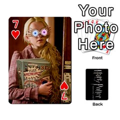 Harry Potter Playing Cards By Mark C Petzold Front - Heart7