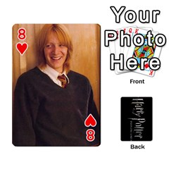 Harry Potter Playing Cards By Mark C Petzold Front - Heart8