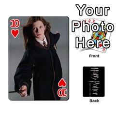 Harry Potter Playing Cards By Mark C Petzold Front - Heart10