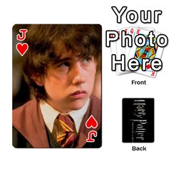 Jack Harry Potter Playing Cards By Mark C Petzold Front - HeartJ