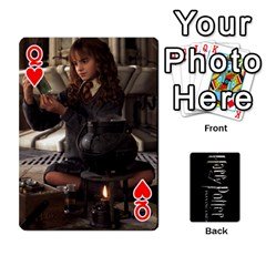 Queen Harry Potter Playing Cards By Mark C Petzold Front - HeartQ