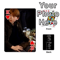 King Harry Potter Playing Cards By Mark C Petzold Front - HeartK