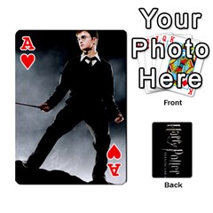 Ace Harry Potter Playing Cards By Mark C Petzold Front - HeartA