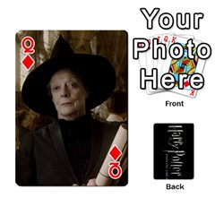 Queen Harry Potter Playing Cards By Mark C Petzold Front - DiamondQ
