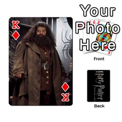 King Harry Potter Playing Cards By Mark C Petzold Front - DiamondK