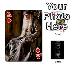 Ace Harry Potter Playing Cards By Mark C Petzold Front - DiamondA