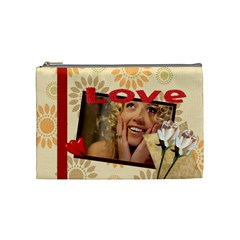 Love Bag By Wood Johnson   Cosmetic Bag (medium)   2dgianf103tr   Www Artscow Com Front