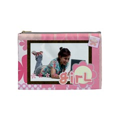 Girl By Wood Johnson   Cosmetic Bag (medium)   Ku00nbntcjrd   Www Artscow Com Front