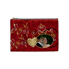 Red Bag By Wood Johnson   Cosmetic Bag (medium)   Dsvohwfqg504   Www Artscow Com Front
