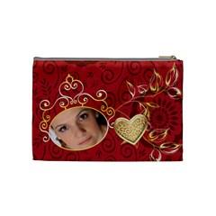 Red Bag By Wood Johnson   Cosmetic Bag (medium)   Dsvohwfqg504   Www Artscow Com Back