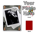 Black Vienna 1 -una letra, trasera roja- - Playing Cards 54 Designs