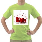 love and diabetes Green T-Shirt