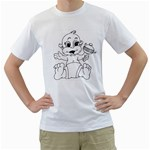 cartoon White T-Shirt