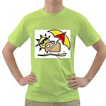 sun with umbrella Green T-Shirt