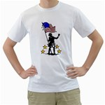 soldier with flag White T-Shirt