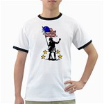 soldier with flag Ringer T