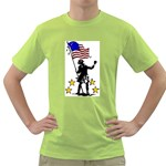 soldier with flag Green T-Shirt