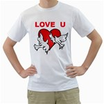 doves with heart White T-Shirt