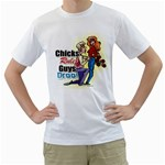 chicks White T-Shirt