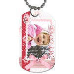 Pink Tag - Dog Tag (One Side)