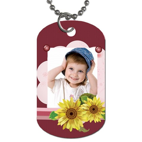 Kids Flower By Wood Johnson   Dog Tag (one Side)   Bfj9ahz1rn6e   Www Artscow Com Front