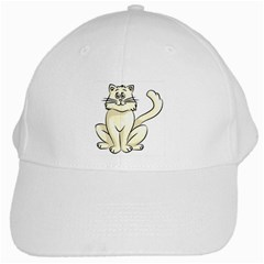 Cute-Cat White Cap by TheAccessories