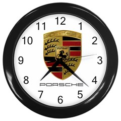 mycar clock Wall Clock (Black) by IyzahStore