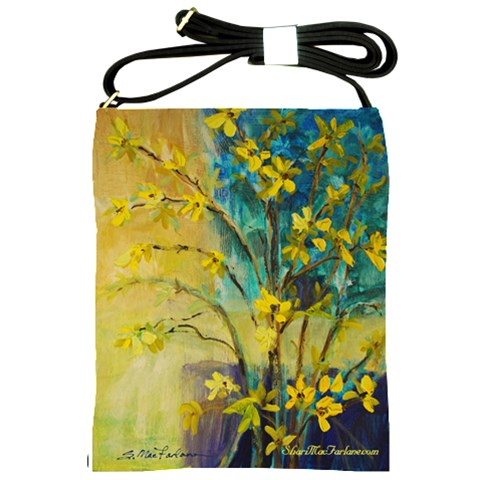 Forced To Bloom By Alana   Shoulder Sling Bag   Rf1ijuovf62i   Www Artscow Com Front