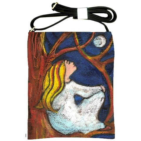 Moon Gazing By Alana   Shoulder Sling Bag   Cczgp3q2xv2t   Www Artscow Com Front