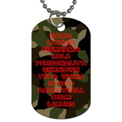 Levana By Levana   Dog Tag (two Sides)   B4v6816dvmp5   Www Artscow Com Back