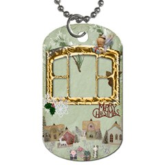 Christmases By Ellan   Dog Tag (two Sides)   6z8vntnvkv43   Www Artscow Com Back