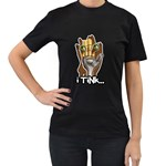 iTink Women s Black T-Shirt (Two Sides)