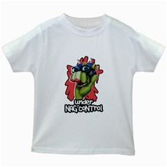 Under Nag Control Kids White T Front