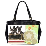 Three donks Oversize Office Handbag (Two Sides) - star