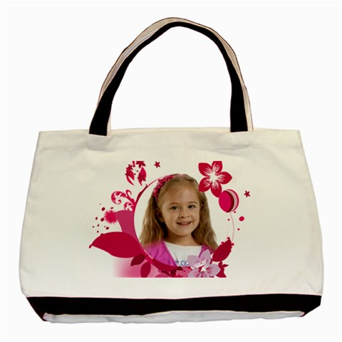 Red Flower By Wood Johnson   Basic Tote Bag   Fcemtyacvwky   Www Artscow Com Front