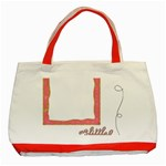 My Little Cupcake Tote  - Classic Tote Bag (Red)
