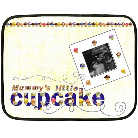 Mummy s Little Cupcake Mini Fleece By Catvinnat   Fleece Blanket (mini)   Veos6ho1bli8   Www Artscow Com 35 x27 Blanket