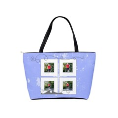 Blue Shoulder Bag By Catvinnat   Classic Shoulder Handbag   1s5bnlzr0ae5   Www Artscow Com Back