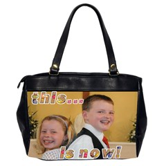 That Was Then    This Is Now! Oversize Bag By Catvinnat   Oversize Office Handbag (2 Sides)   Ce2z42ebhrl9   Www Artscow Com Back