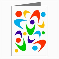 Retro Colorful Boomerang Greeting Card by JuJuGarden