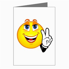 Peace Smiley Greeting Card by JuJuGarden