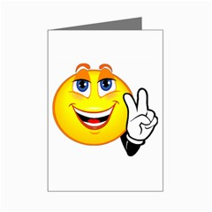 Peace Smiley Mini Greeting Card by JuJuGarden
