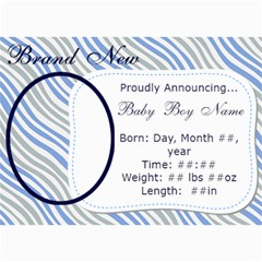 Announcement By Running Mama   5  X 7  Photo Cards   Odrc8j1dljgq   Www Artscow Com 7 x5 Photo Card - 2