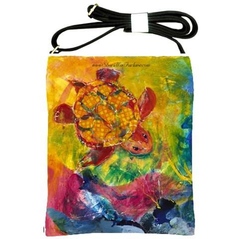 Turtle Descending By Alana   Shoulder Sling Bag   Qz1q7giht3v5   Www Artscow Com Front