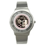 girl pink family watch - Stainless Steel Watch