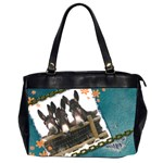 Three donks Oversize Office Handbag (Two Sides) - denim