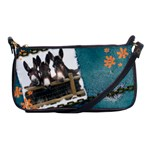 Three donks Shoulder Clutch Bag - denim