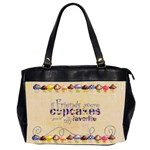 chocolate Cupcakes oversized handbag - Oversize Office Handbag (2 Sides)